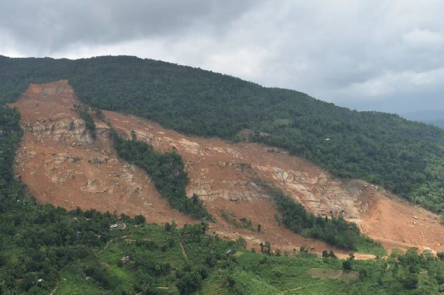 The main part of the Aranayake landslide in Sri Lanka, via JIC